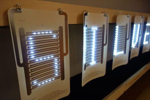 """竹尾の紙に""""電子回路を印刷"""" - 「紙のミライ」を探る企画展 (1) 竹尾の紙が「光る」"""