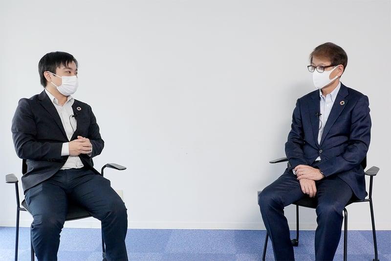 三井化学株式会社 代表取締役副社長 松尾英喜様 × 弊社代表取締役社長 清水信哉