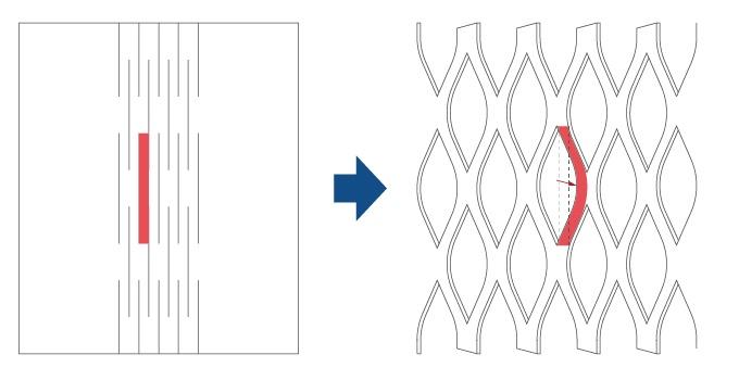 伸びないフレキシブル基板が伸びる仕組み