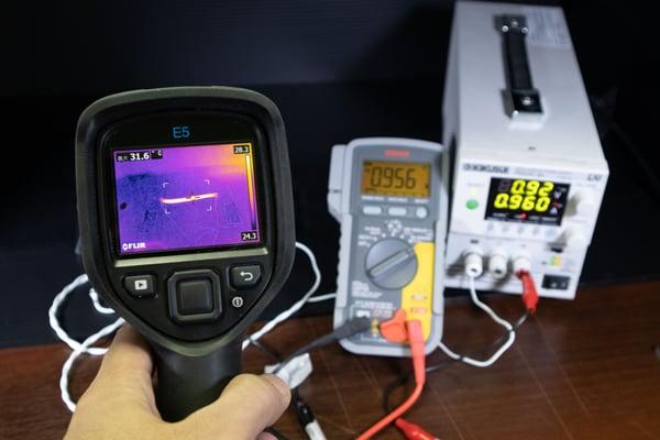 許容電流参考データ測定方法